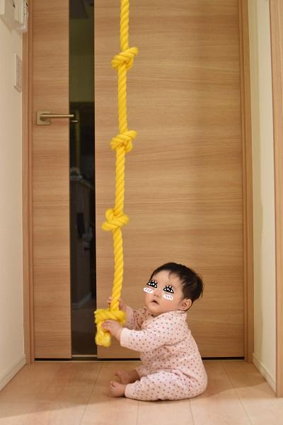 登りロープの結び目