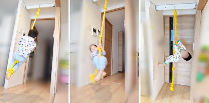 綱登りロープを自宅にDIY設置