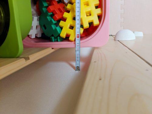 おもちゃ棚との干渉はギリギリ回避