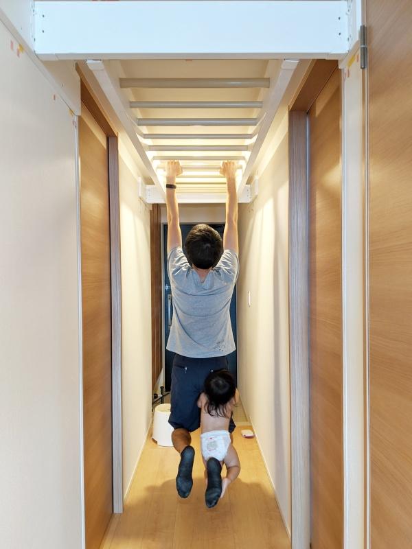 廊下雲梯の耐荷重試験