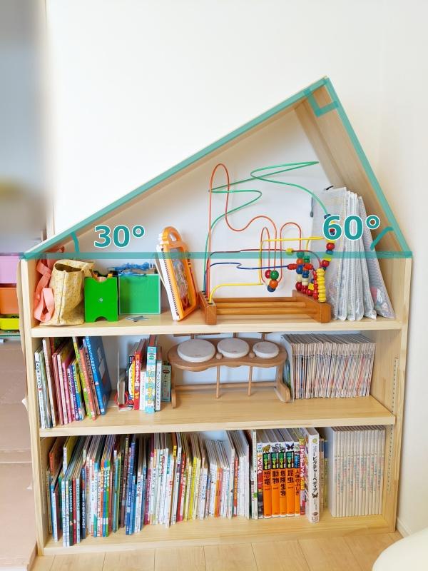 おうち型本棚の外形
