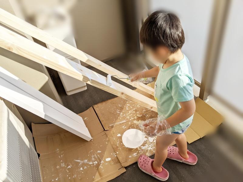 木材塗装の養生