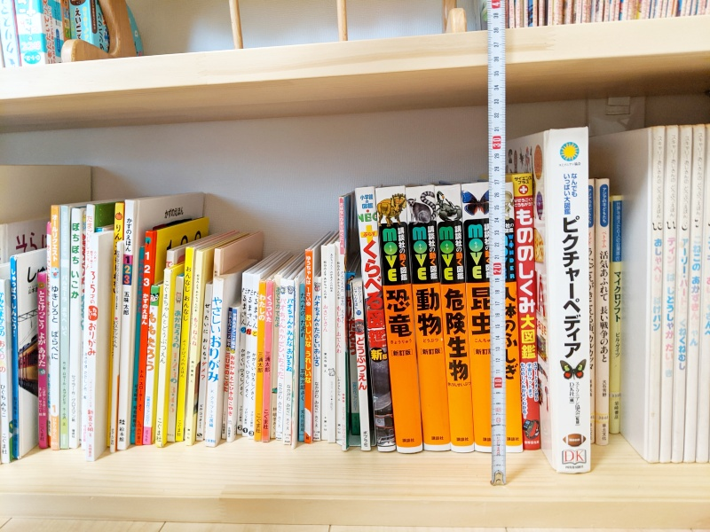 本棚の高さの評定