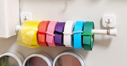 百均グッズで作るマグネット式テープホルダー!紙テープ・スズランテープなどの非粘着タイプにオススメ